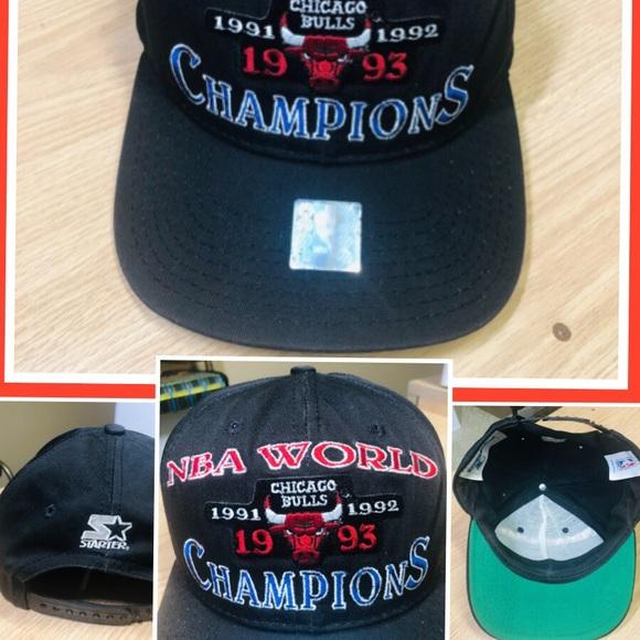b92305f66aeca6 STARTER Accessories | Rare Vintage 90s Nba Bulls World Champion ...